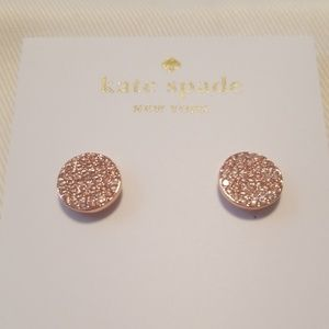 "kate spade Jewelry - Kate Spade Rose Gold ""Shine On"" Crystal Earrings"